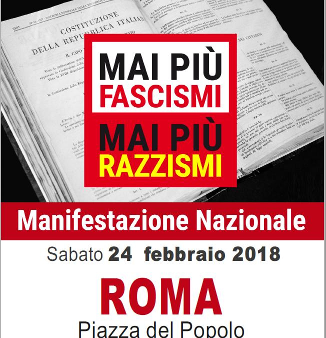 Mai più fascismi, Auser aderisce all'appello nazionale