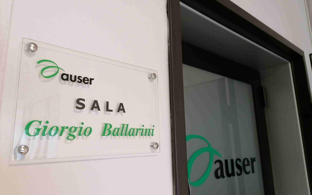 AUSER Provinciale intitola una sala a Giorgio Ballarini