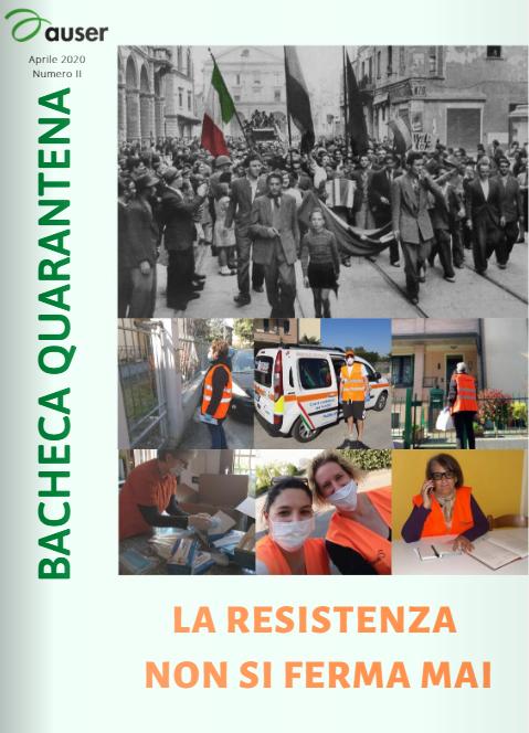 BACHECA QUARANTENA: sfoglia il secondo numero della pubblicazione dedicata alle attività Auser in questo periodo di emergenza